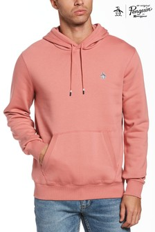 Original Penguin Pink Sticker Pete Fleece Hoodie