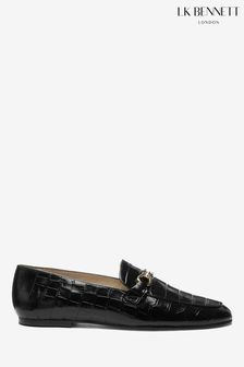 L.K.Bennett Black Marina Loafers