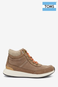 TOMS Brown Waterproof Lace-Up Hiker Boots