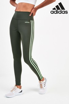 adidas D2M 3 Stripe High Rise Leggings