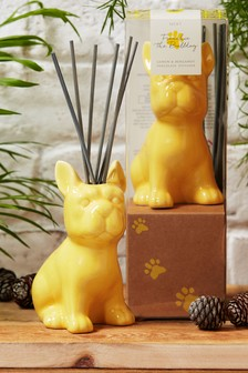 Lemon & Bergamot Porcelain French Bulldog 70ml Diffuser