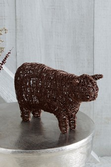 Wire Bull Ornament