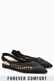Forever Comfort Pointed Weave Slingbacks