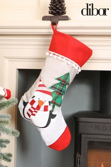 Percy Penguin Pom Pom Stocking by Dibor