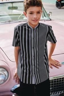 Short Sleeve Stripe Baseball Shirt (3-16yrs)