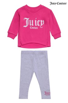 Juicy Couture Oversized Branded Crew And Leggings Set