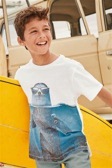 Seal Panel Printed T-Shirt (3-16yrs)
