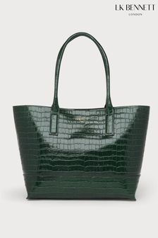 L.K.Bennett Forest Green Lacey Simple Tote Bag