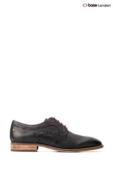 Base London® Black Haddon Softy Lace-Up Shoes