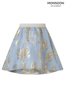 Monsoon Blue Tulip Jacquard Skirt