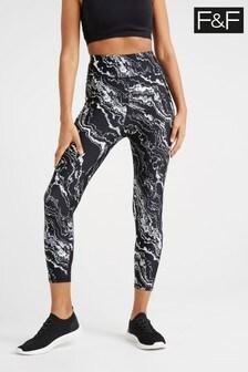 F&F Grey Black Leggings