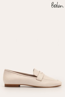 Boden Cream Faye Loafers