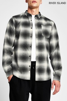 River Island Shadow Check Regular Shirt