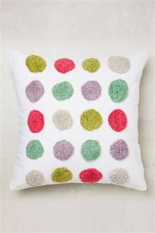 Spotty Pom Pom Cushion