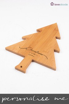 Personalised 'Christmas At' Chopping Board by Loveabode