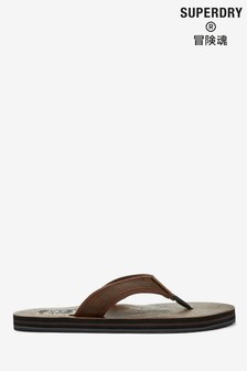 Superdry Brown Flip Flops