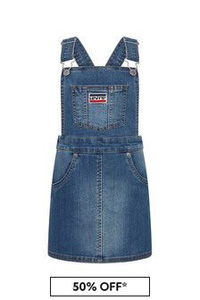 Levis Kidswear Girls Blue Cotton Dress