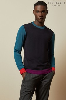 Ted Baker Bopit Colourblock Wool Blend Jumper