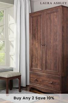 Broughton Dark 2 Door 1 Drawer Wardrobe by Laura Ashley