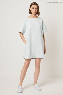 French Connection White Marissa Denim Dress