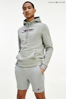 Tommy Hilfiger Silver Logo Fleece Shorts