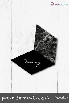 Personalised Marble Hex Coaster by Loveabode