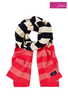 Joules Red Chillaway Soft Handle Scarf