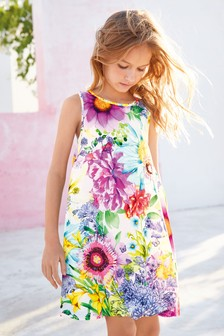 Embellished Floral Dress (3-16yrs)