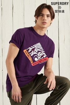 Superdry Purple Mountain Relaxed Fit Graphic T-Shirt