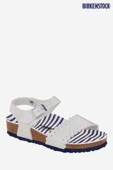 Birkenstock® White Patent Risa Sandals