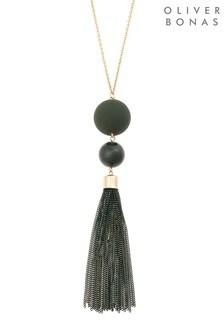 Oliver Bonas Multi Chain Tassel Long Pendant Necklace