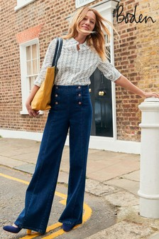 Boden Denim Sailor Wide Leg Jeans