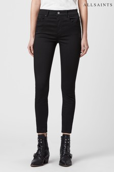 AllSaints Black Mid Rise Skinny Miller Jeans