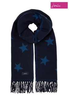 Joules Blue Mardale Reversible Scarf