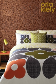 Orla Kiely Placement Flower Tile Cotton Duvet Cover