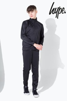 Hype. Black Slim Kids Tracksuit