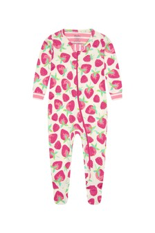 Hatley Kids & Baby Hatley Baby Girls Pink Delicious Berries Organic Cotton Babygrow
