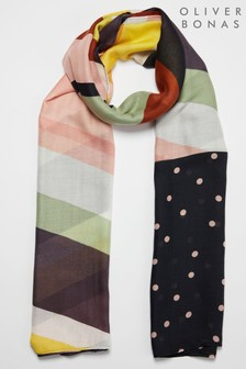 Oliver Bonas Stripes And Dots Lightweight Scarf