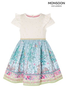 Monsoon Baby Bunny 2-In-1 Dress With Organic Cotton