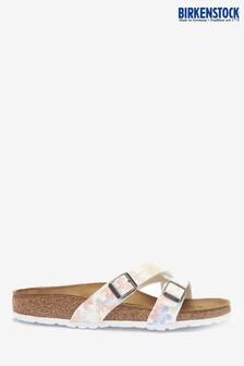 Birkenstock® White Floral Yao Sandals