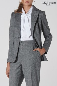L.K.Bennett Grey Frances Wool Jacket