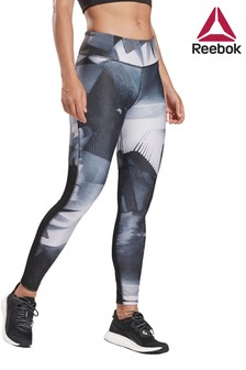 Reebok Black All Over Print Leggings