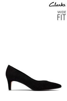 Clarks Black Sde Laina55 Court2 Shoes