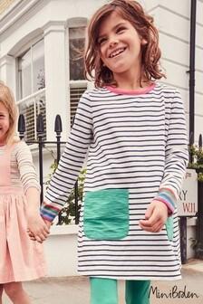 Boden Blue Fun Pocket Jersey Dress