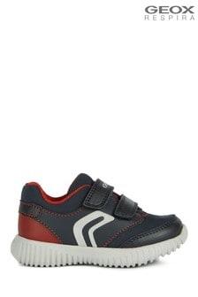Geox Baby Boy/Unisex Waviness Dark Navy/Red Velcro Trainers