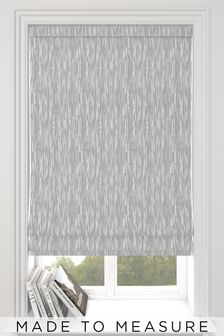 Kally Slate Grey Abstract Stripe Made To Measure Roman Blind