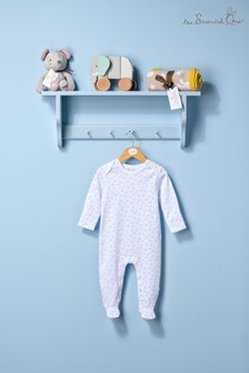 The Essential One Unisex Baby Sleepsuit With Cloud Print