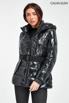 Calvin Klein Wet Look Down Jacket