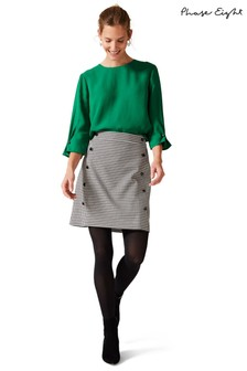 Phase Eight Black Ridley Dogtooth Skirt