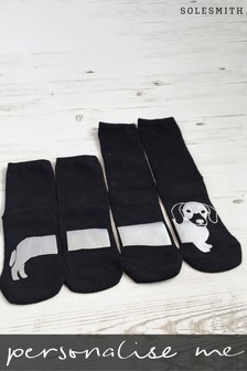 Personalised Sausage Dog Socks by Solesmith